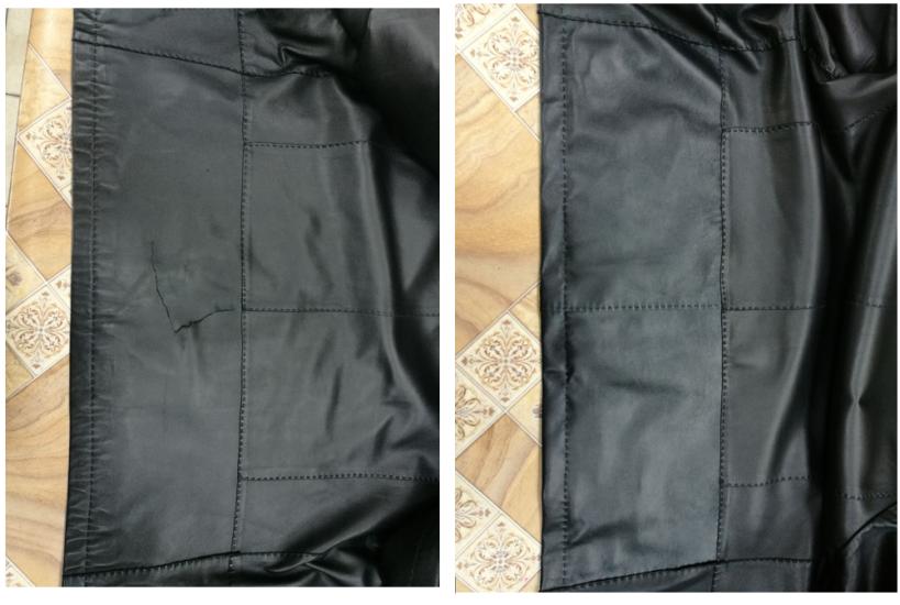 Ремонт воротника кожаной куртки