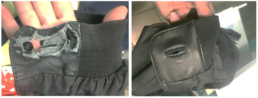 Ремонт рукава кожаной куртки